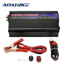 AOSHIKE чистая синусоида преобразователь напряжения 12 В до 220 В 1000 Вт Авто мощность автомобильный преобразователь напряжения трансформатор автомобильный инвертор сигареты