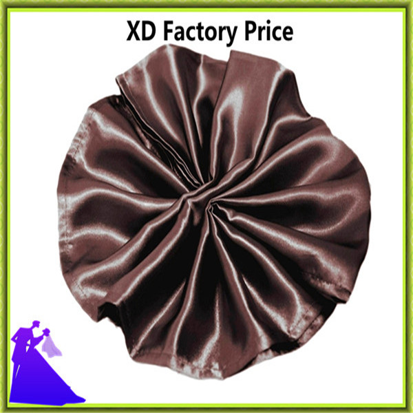 Marious Brand 45*45cm hotel table napkin satin fabric cheap for sale free shipping