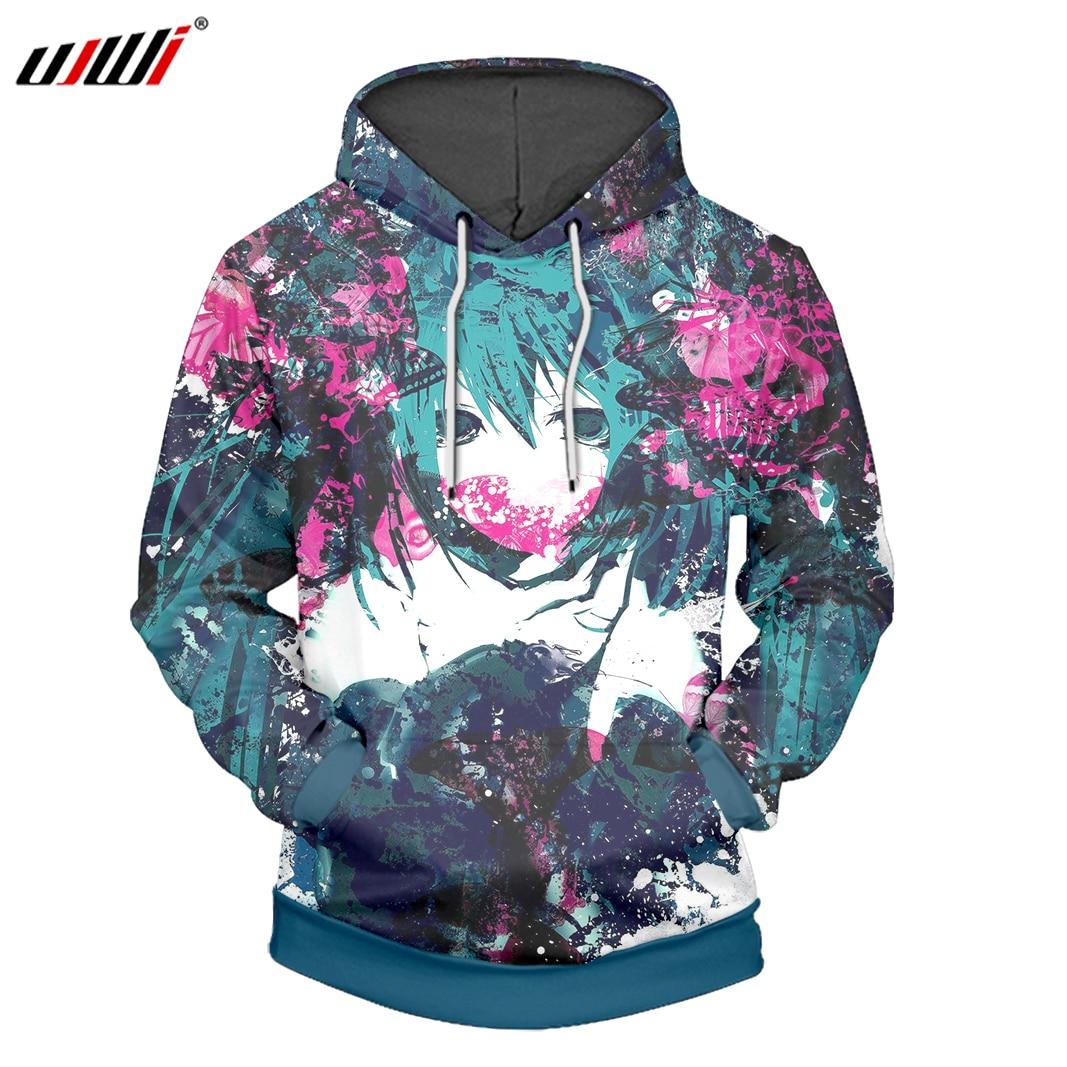 UJWI 3D Printed Hatsune Hoodies Sweatshirts Anime Hooded Hoodie Fashion Brand Mens Casual Boys Pullover Plus Size 5XL, 6XL hoodie