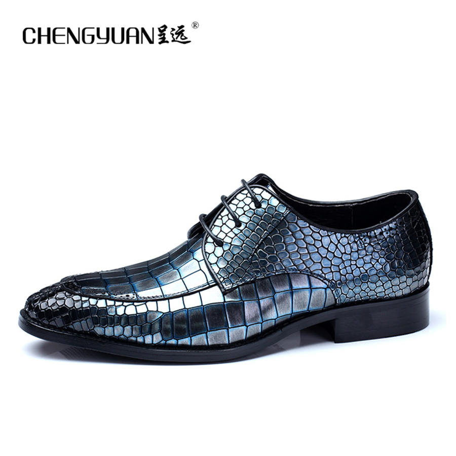 men flats leather shoes luxury business crocodile pattern green lace up dress shoe men large. Black Bedroom Furniture Sets. Home Design Ideas