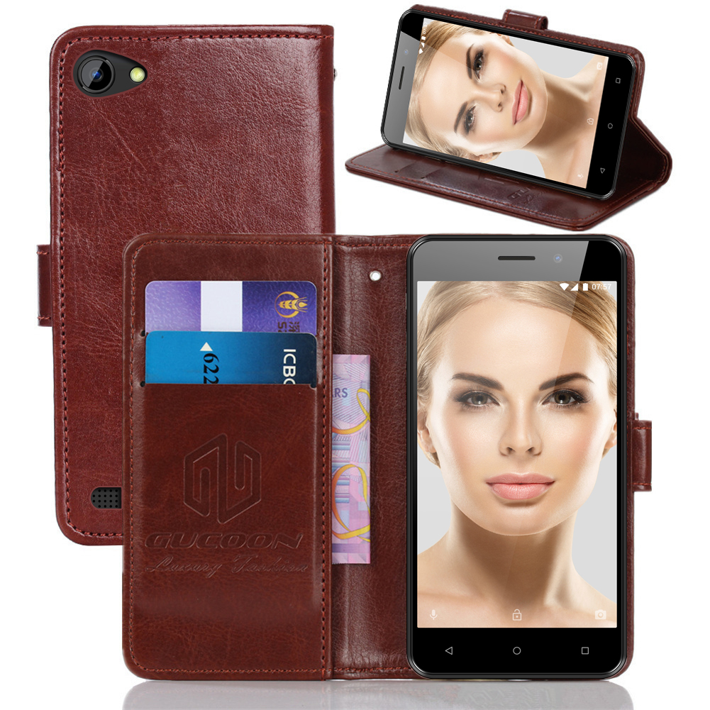 GUCOON Classic Wallet Case for INOI <font><b>2</b></font> <font><b>1</b></font> 3 5i 5x Lite power PU Leather Vintage Book Flip Cover Magnetic Fashion Phone Cases image