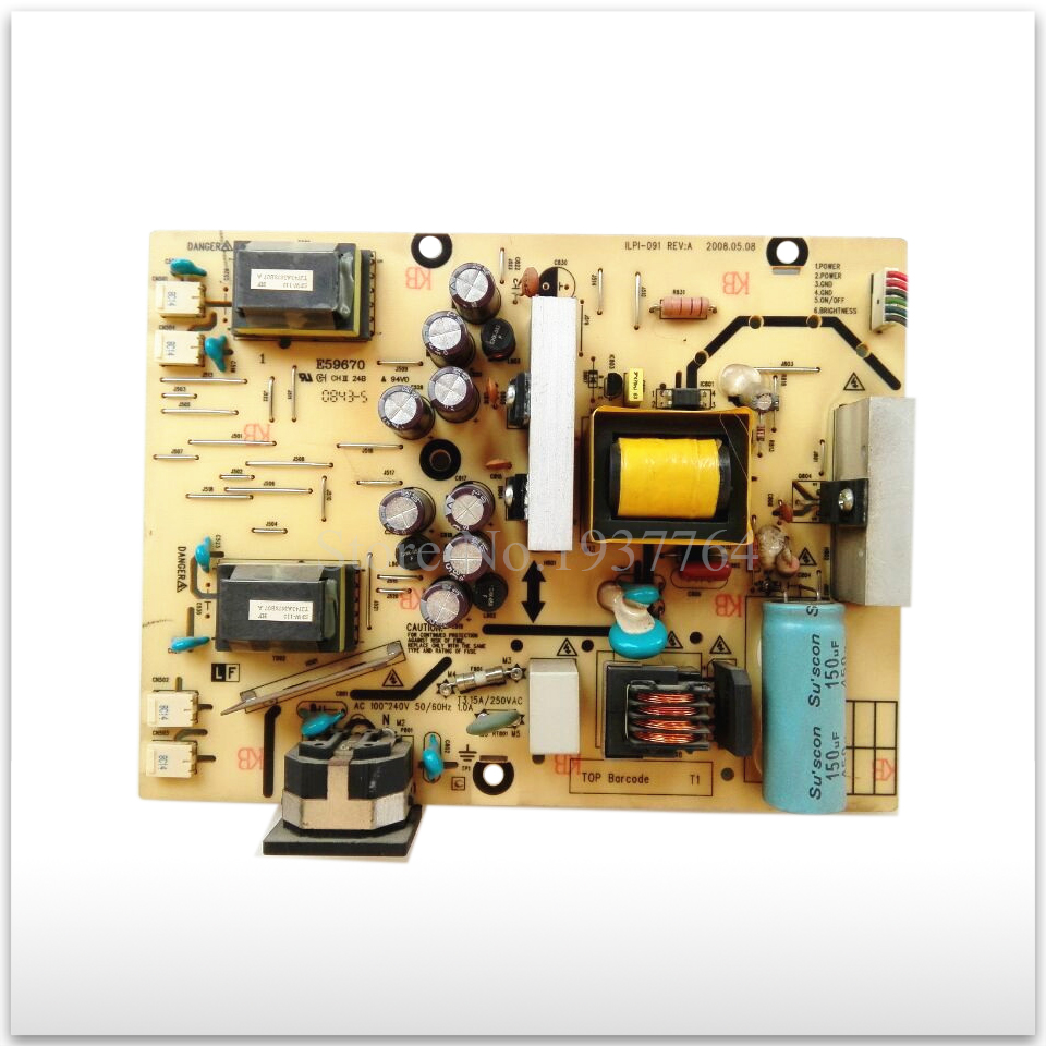 90% new Original Second hand W2234SI power supply board ILPI-091 491441400100R free shipping original power board ilpi 159 492561400100r condition new original 100