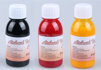 3 Bottles Waterproof Airbrush Tattoo Ink For Body Painting Black Red Yellow Color Temporary Body Tattoo