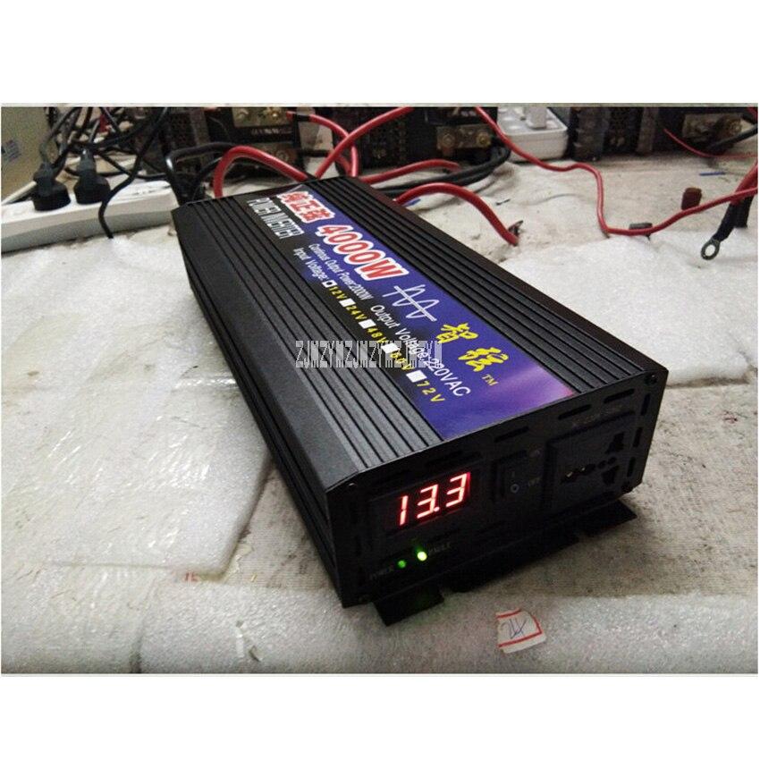 Zx-4000W Pure Sine Wave Car Power Inverter 4000W 12V/24V/48V/60V To 220V Car Converter Inverters For Solar Boat Home Appliances 50 60hz 48v dc sine wave inverters 6000w