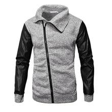 Mens Clothing Zipper Cardigan Sweatshirts Men Stand Collar Autumn Winter Casual Fleece Streetwear