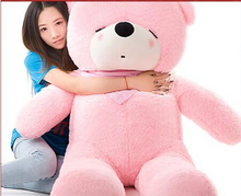 huge plush pink teddy bear toy large sleeping bear toy stuffed big pink teddy bear gift 180cm