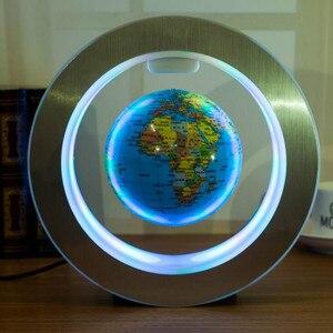 Image 3 - Novelty Round LED World Map Floating Globe Magnetic Levitation Light Antigravity Magic/Novel Lamp bola de plasma Dec plasma ball
