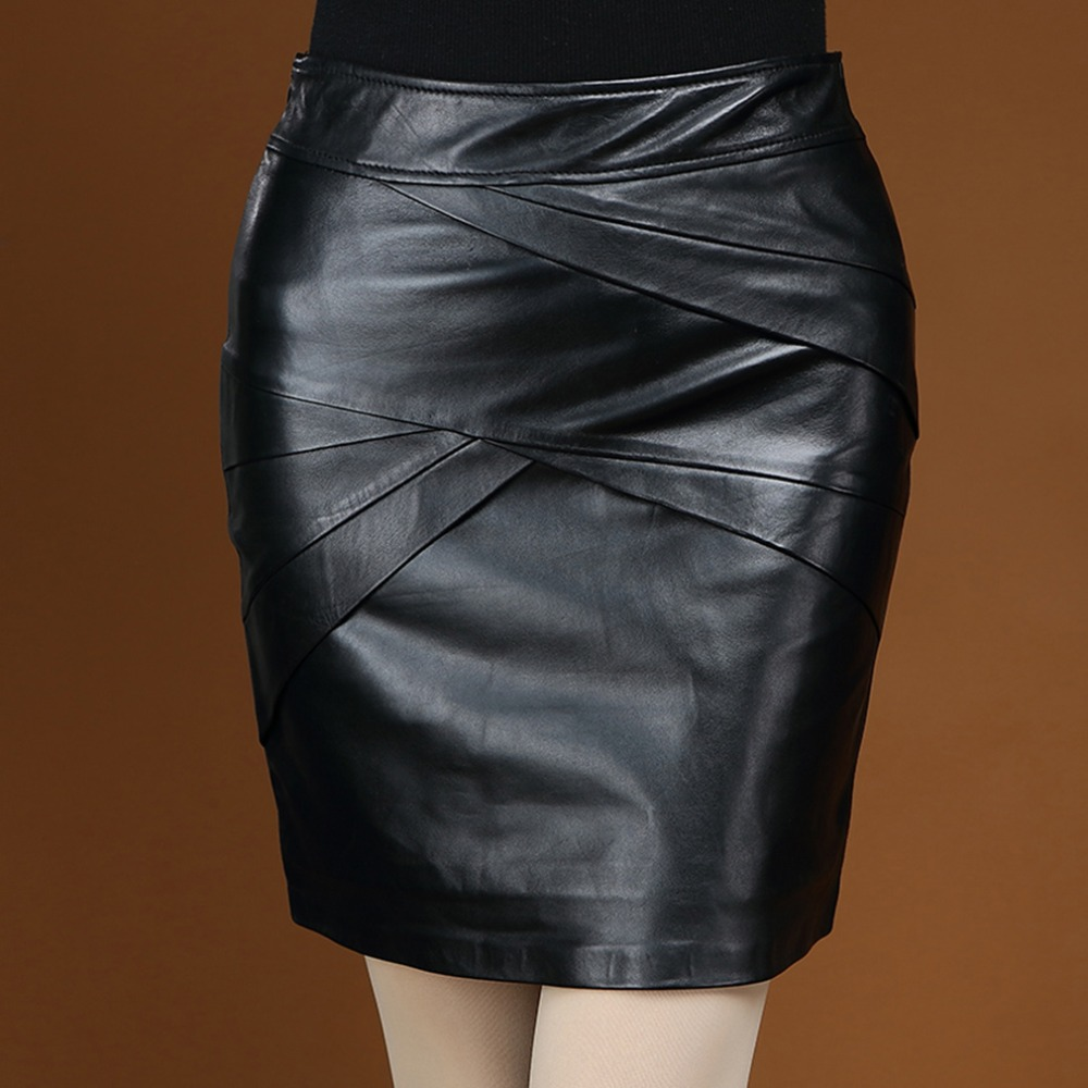 Popular Real Leather Mini Skirt-Buy Cheap Real Leather Mini Skirt ...