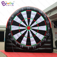 13ft/4m football dart shooting game with sticky balls, inflatable soccer dart board shooting game inflatable toy
