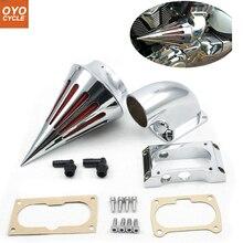 купить For 04-10 Kawasaki Vulcan 2000 VN2000 Classic Spike Cone Motorcycle Air Cleaner Intake Filters Kit Accessories 2004 2005-2010 по цене 1953.28 рублей