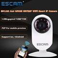 Escam hormiga qf605 wifi mini ip para el hogar cámara de 1.0mp hd 720 p onvif2.0 p2p visión nocturna de vigilancia de seguridad cctv de interior cámara