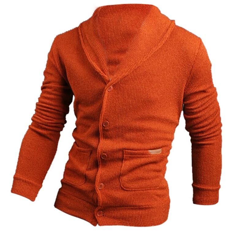 c8e4441a1 Moda Outono Inverno Camisola Dos Homens de Lapela Dos Homens Cardigan  Camisola de Malha Moda Camisola Casaco de Cultivar a Moralidade