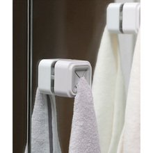 Kitchen Wash Cloth Clip Anti-slip Home Organizer Towel Holder Bathroom Rack Saving Space Hotel Self Adhesive Storage Wall Mount
