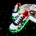 USB Footwear Feminino Tenis Led Simulation Bambas Lace Led Slipper Light Up Trainers Boy Girl Glowing Sneakers Luminous Shoe