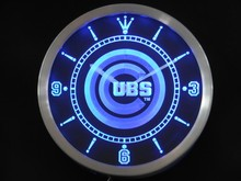 Nc0564-b Chicago Cubs Enseigne Au Néon Horloge Murale LED Dropshipping
