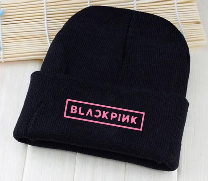 New arrival kpop bangtan boys young forever vixx blackpink logo printing hat for winter unisex k-pop   beanies  &  skullies   black hats