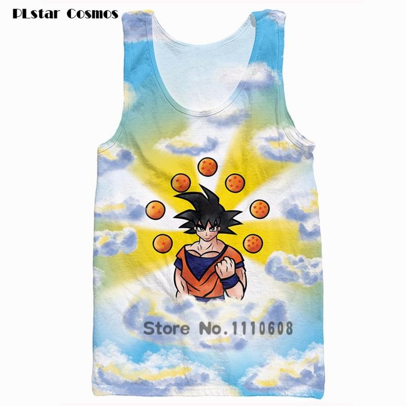 2017 summer New Fashion Women Men Hipster 3D vest Anime Dragon Ball Z Goku Galaxy Starry sky flight 3d print casual Tank Tops
