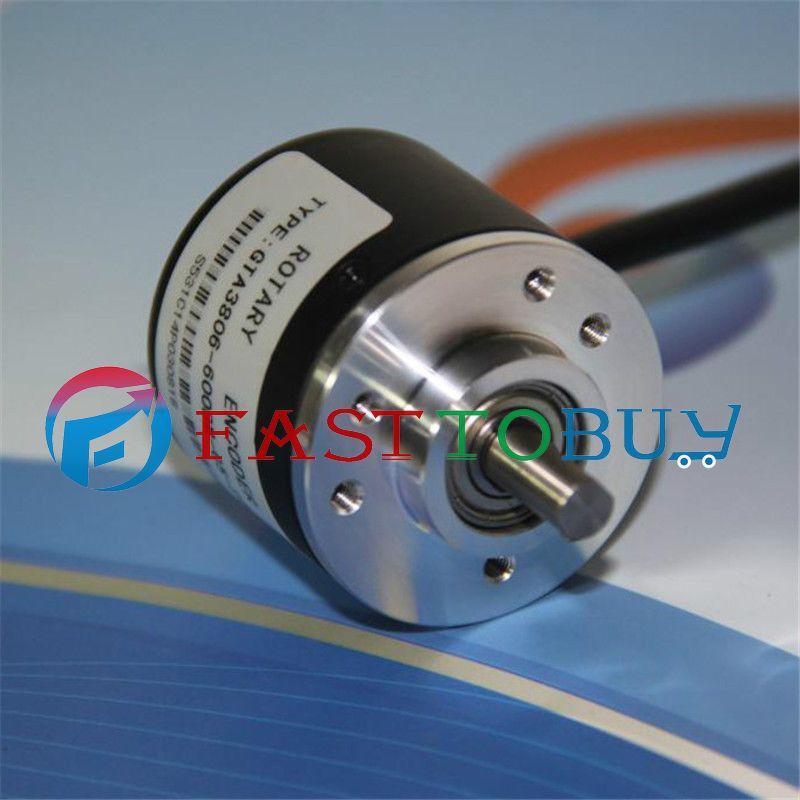 NEW 300P/R Voltage Output DC5~24V  AB 2ph Shaft 6mm 1500rpm Incremental Photoelectric Rotary Encoder+1.5M CableNEW 300P/R Voltage Output DC5~24V  AB 2ph Shaft 6mm 1500rpm Incremental Photoelectric Rotary Encoder+1.5M Cable