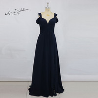Robe De Demoiselles D Honneur Pour Mariage Navy Blue Bridesmaid Dresses Long Elegant Cheap Prom Wedding