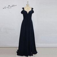 Robe De Demoiselles D Honneur Pour Mariage Navy Blue Bridesmaid Dresses Long Elegant Cheap Prom Wedding