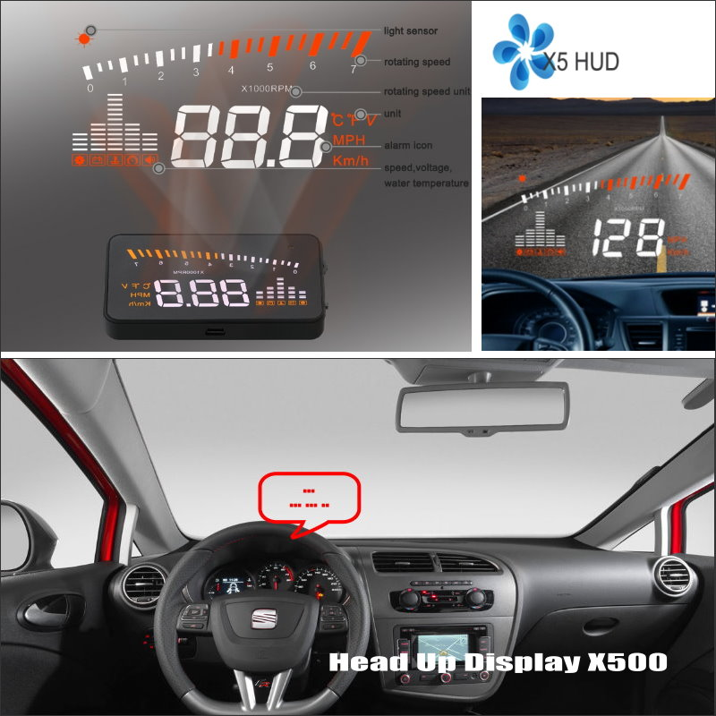 все цены на For SEAT Leon 1P MK2 5F MK3 2006 ~2015 - Safe Driving Screen Car HUD Head Up Display Projector Refkecting Windshield
