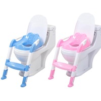 Baby Children Potty Training Seat with Adjustable Ladder Infant Toilet Training Folding Seat M09