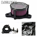 1 Set CNC Air Cleaner  Filter Intake System For Harley Sportster XL 883 1200 2004-2015 Air Filters kit Free Shipping