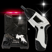 45pcs/Set Electric Screwdriver Rechargeable Battery Electric Screwdriver Multi-function Cordless Screwdriver Power Tools