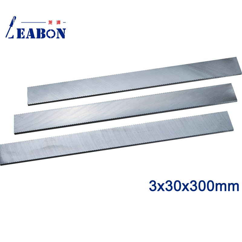 LEABON 3 X30x300mm W6% HSS Flat Wood Planer Blades Wood  Cutting Tools  (A01010085)
