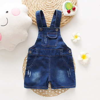 IENENS Fashion Girl Boy Shorts Overalls Fit 2-4Y Summer Baby Toddler Girls Jeans Dungarees Child Kids Denim Trousers Pants