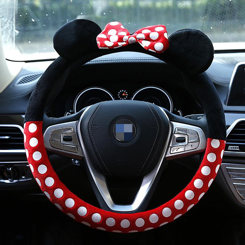 Universal Cartoon Animal Steering Wheel Cover Interior Bow Steering Wheel Cover Car Auto Accessories Cover 14 Colors