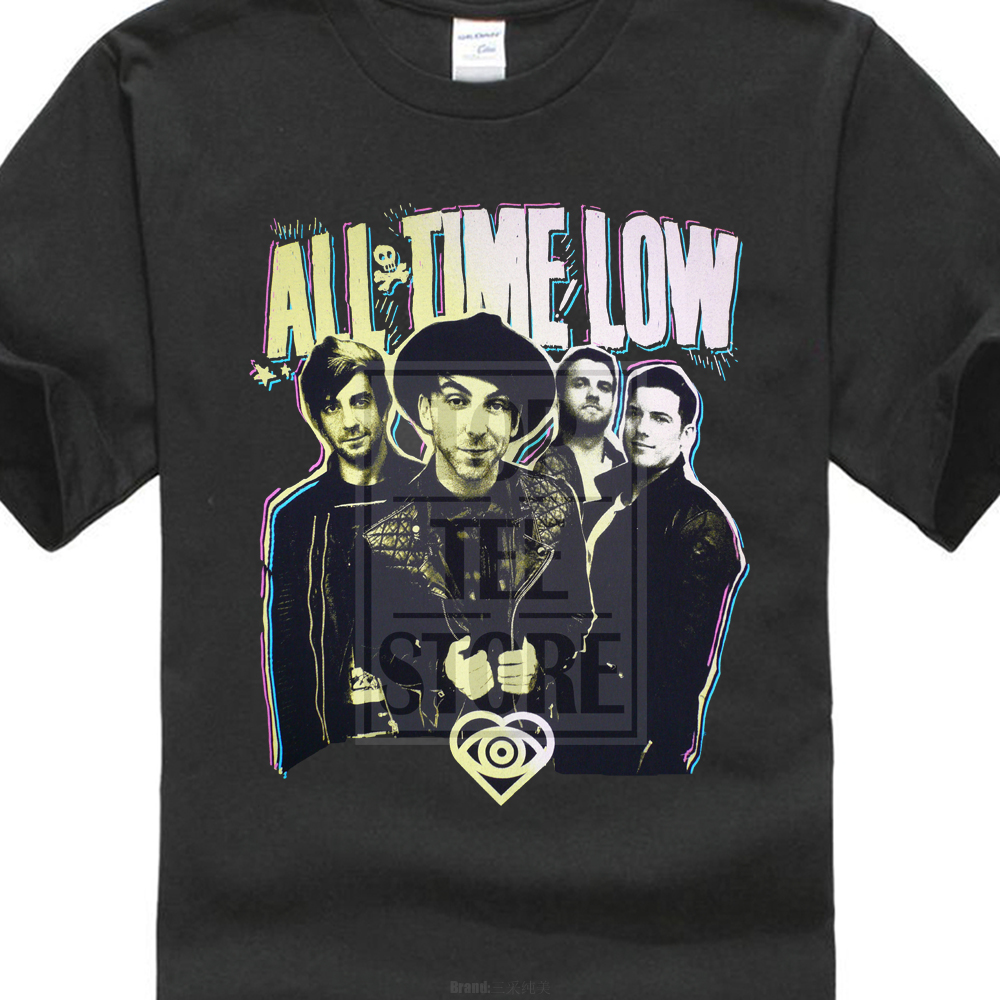 """All Time Low sont d logo /""""Femmes Skinny Rock T Shirt Taille XL official Band Merch"""