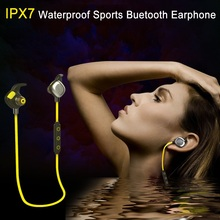 Cheap price AINGSLIM IPX7 Waterproof 4.1 Bluetooth Headset Wireless Sports Running Headphone Sweatproof Earphones for iPhone Android phone