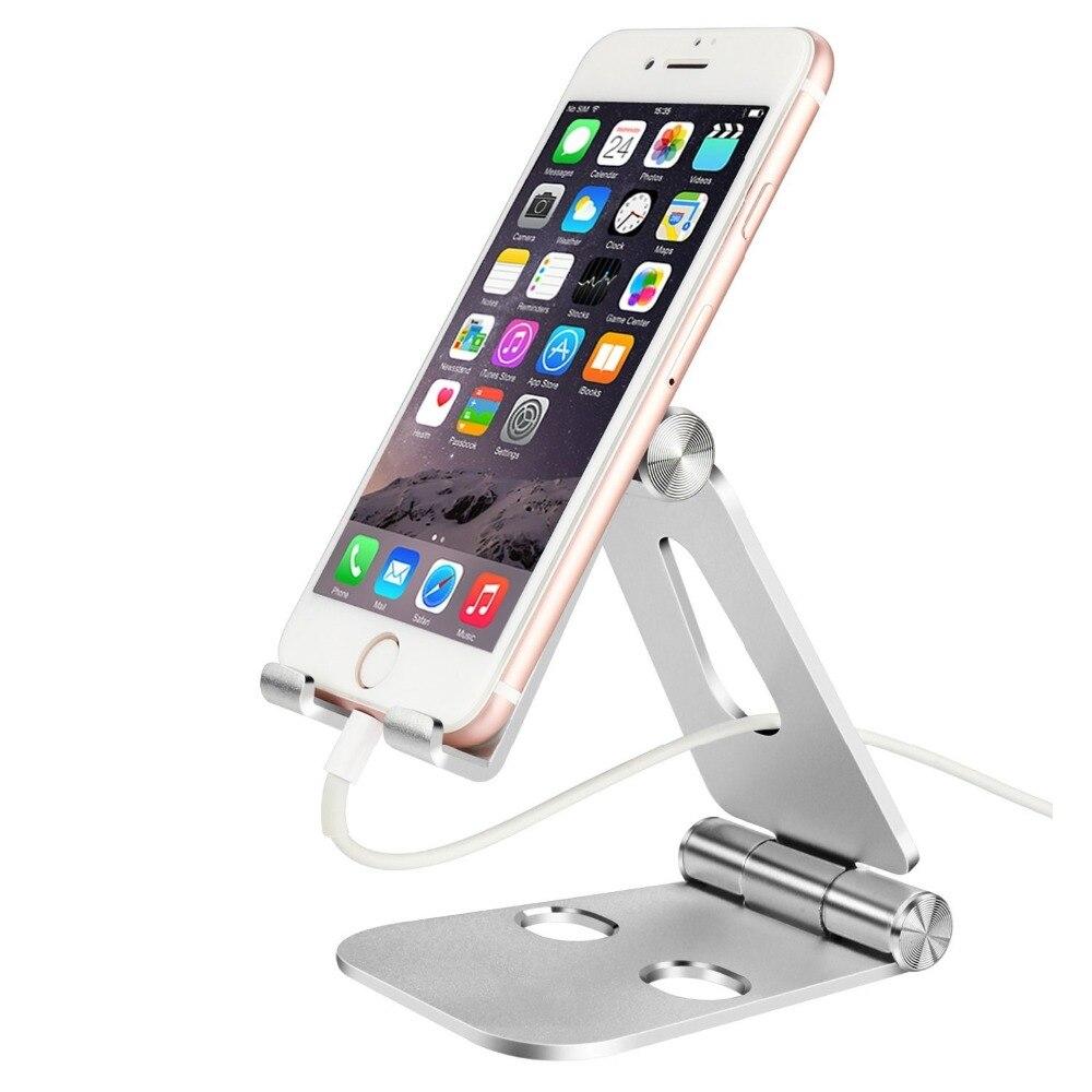 Складная рабочего сотовый телефон планшетный подставка для iPhone X 7 8 Plus для iPad 3 4 воздуха мини держатель для samsung S8 S9 Зарядное устройство Подст…