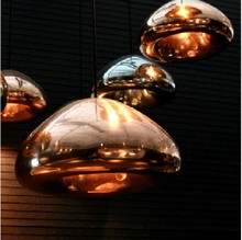 Wholesale Drop Lamp Modern plating Copper bowl lights Glass Bread Hanging Lamp Fixture England Tom Design pendant light