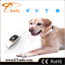 Mini Waterproof Silicon Pets Collar GPS Tracker Real time Locator GPS+LBS+WIFI Location Locator for Dog Cat Tracking Geofence