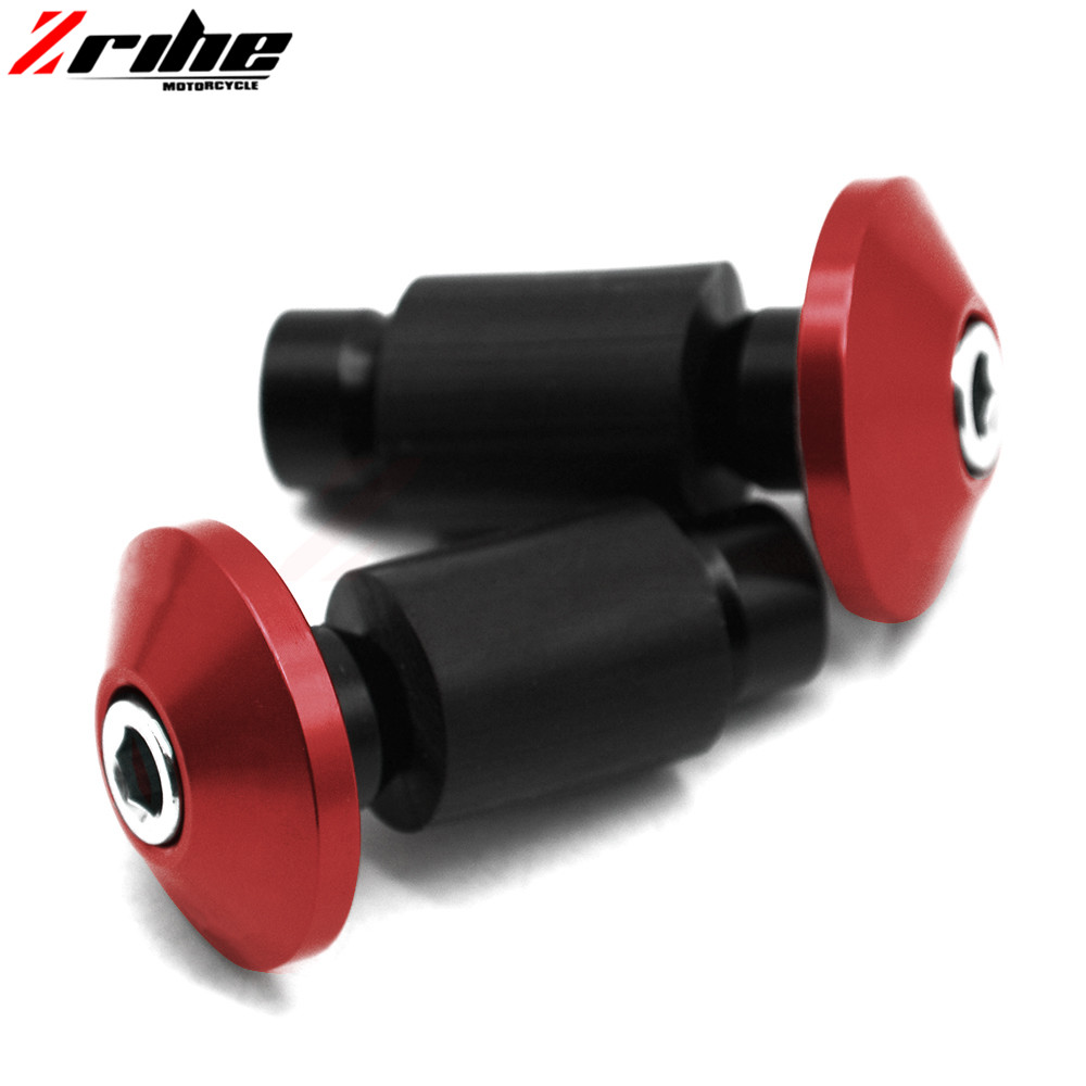 Universal 22mm 7/8 Motorcycle CNC Aluminum Handlebar Grips Bar Ends Sliders For cb1000r honda crf 450 yamaha yzf r125 ktm duk 2pcs universal motorcycle stand screws cnc swingarm swing sliders spools m6 m8 m10 for yamaha r3 honda crf 450 suzuki gn250