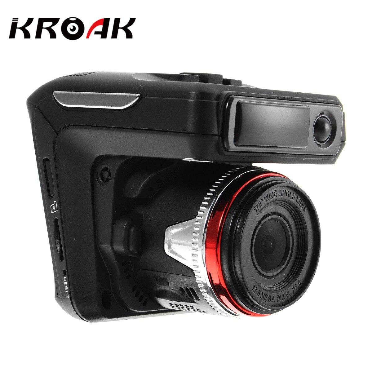 KROAK 2 4 2 In 1 Car DVR Dash Camera Anti Radar Detector Laser HD 720P