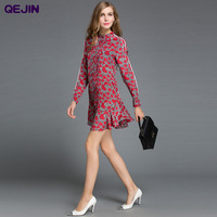 Street Style Summer Long TOPS T SHIRTS LONG SLEEVE O NECK REAL SILK Shirts DRESSES PRINGTING