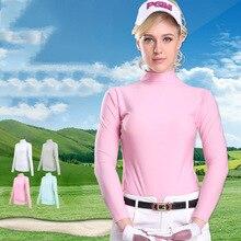 PGM Женская одежда для активного летнего спорта мягкая вискозная рубашка Нижнее белье гольф футболки с длинными рукавами одежда для гольфа