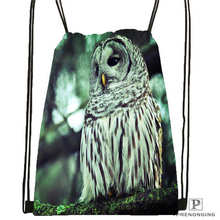 Custom owl Drawstring Backpack Bag Cute Daypack Kids Satchel Black Back 31x40cm 180611 03 133