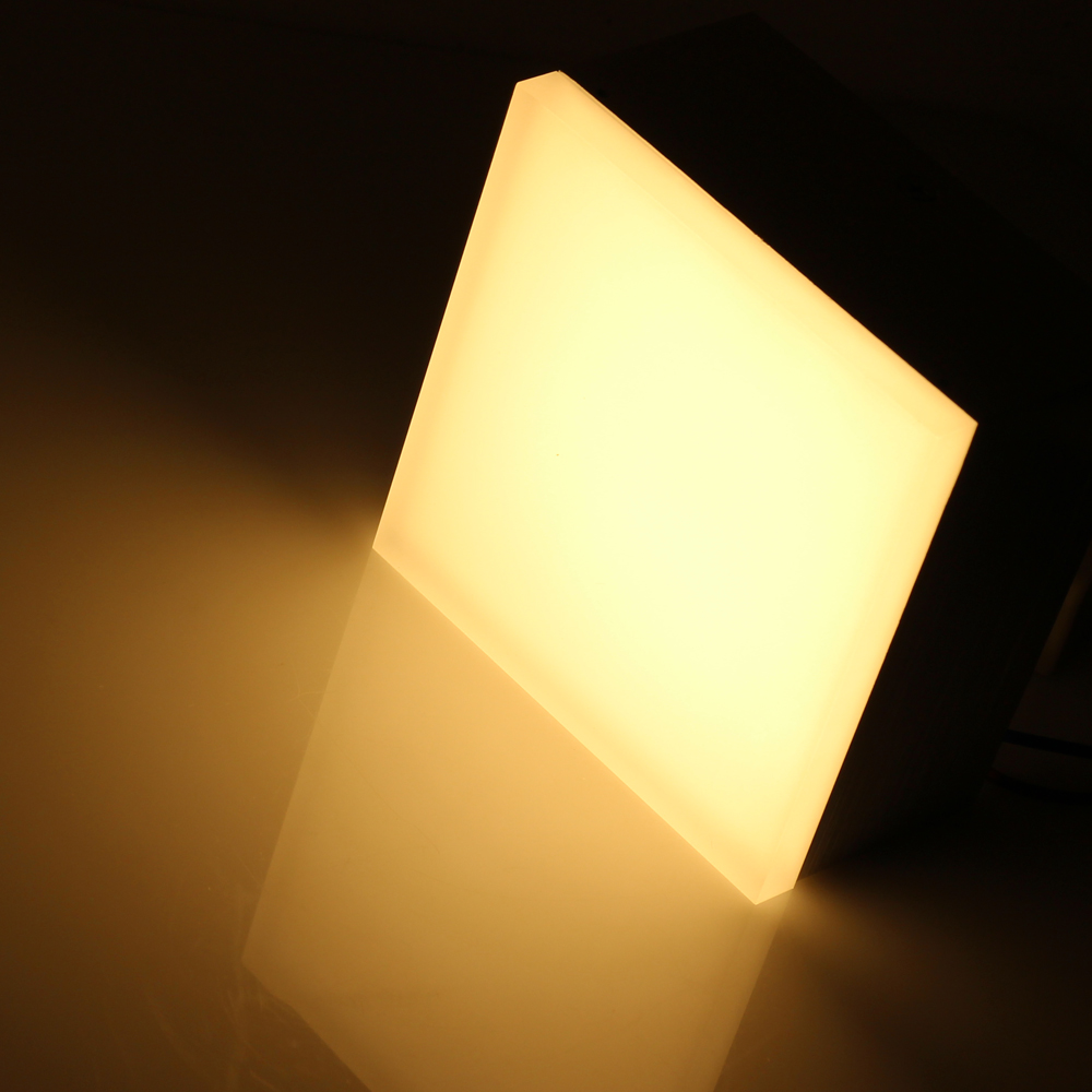 ФОТО 12W Acrylic Wall Lamps AC 85-265 LED Diffused Wall Lights DC28-50V Ice Brick Cube Beside Lamp Wall Sconces Lighting FreeShipping