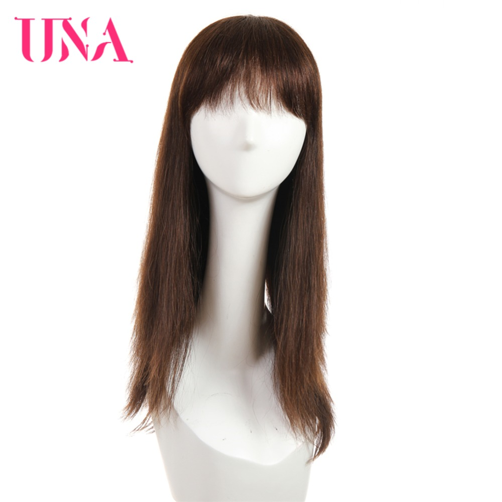 UNA Human Hair Wigs For Women Long Straight Human Hair 150% Density Indian Straight Human Hair Wigs Non-Remy Machine Wigs