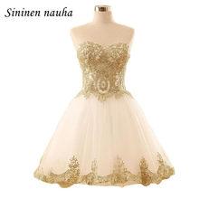 44a1e3f186 Barato corto Prom Vestidos De partido del vestido para las muchachas  Juniors Sweetheart Appliques vestido De