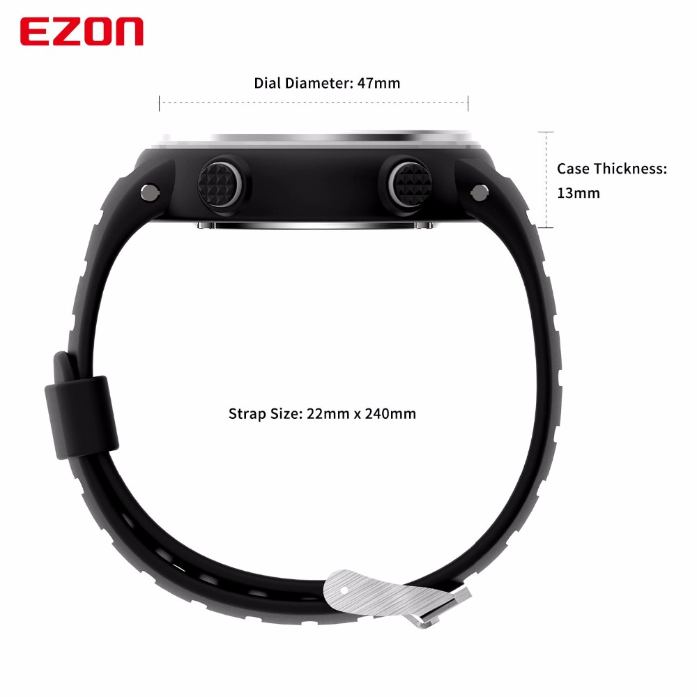 Image 5 - New Arrival EZON T007 Heart Rate Monitor Digital Watch Alarm Stopwatch Men Women Outdoor Running Sports Watches with Chest Strapwatch withwatch alarmwatch digital -