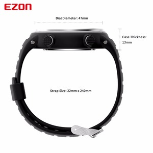 Image 5 - New Arrival EZON T007 Heart Rate Monitor Digital Watch Alarm Stopwatch Men Women Outdoor Running Sports Watches with Chest Strap