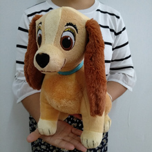 Free Shipping 30cm=11.8inch Original Lady and the Tramp Toy, Sitting Lady Dog Stuffed Animals Plush Soft Toy For Children Gifts