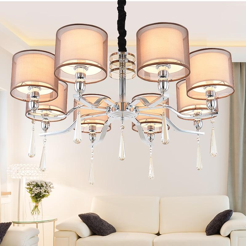 Multiples Lustre en cristal salon chambre salle à manger lumineuse de mode simple hôtel lampes en gros ZX100