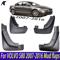 Mudguards Fender Front Rear Set Molded Car Mud Flaps For VOLVO S80 2007-2016 Mudflaps Splash Guards Mud Flap  2008 2009 2010