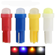 20Pcs/Lot 12V 0.5W T5 W2W B8.5D Car LED Instrument Lights with7 colours Auto Interior Dashboard Lamps Wholesale White/Blue/Red